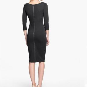 New Felicity & Coco Black Midi Sheath Dress Sz M